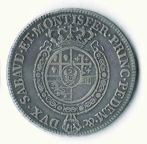 R/ CARLO EMANUELE III - 1/2 Scudo da 3 Lire 1758. R - AR - q.BB/BB