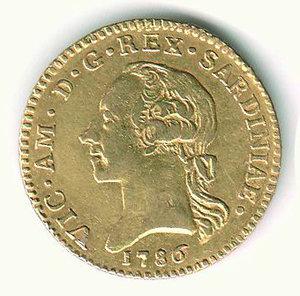 D/ VITTORIO AMEDEO III (1773-1796) - Doppia 1786. AU - q.SPL