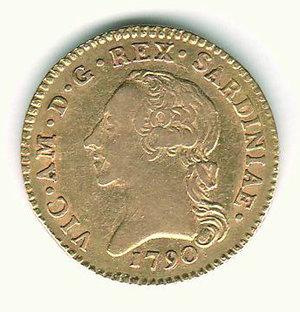 D/ VITTORIO AMEDEO III - Doppia d'oro 1790. AU - q.SPL