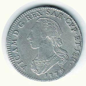 D/ VITTORIO AMEDEO III - 1/2 di Scudo 1779. RR - AR - BB+/q.SPL