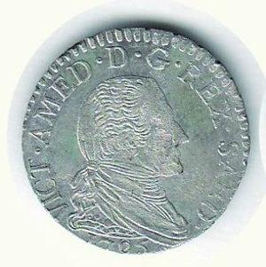D/ VITTORIO AMEDEO III -  10 Soldi 1795 - Argentatura completa. Mist. - SPL+