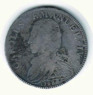 obverse: Carlo Emanuele IV (1796-1802) - 1/2 Scudo 1798