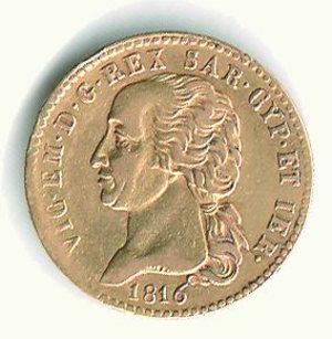 obverse: Vittorio Emanuele I - 20 Lire 1816