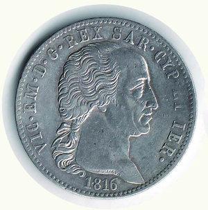 obverse: VITTORIO EMANUELE I - 5 Lire 1816