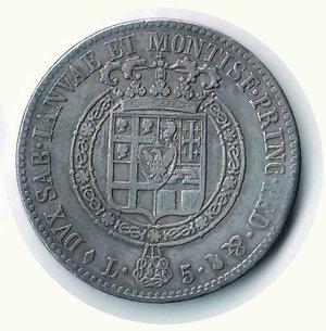 reverse: VITTORIO EMANUELE I - 5 Lire 1816