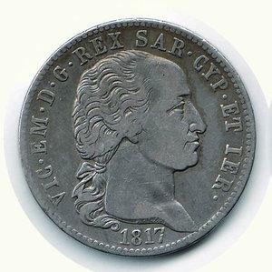 obverse: Vittorio Emanuele I - 5 Lire 1817