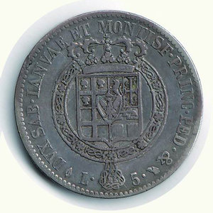 reverse: Vittorio Emanuele I - 5 Lire 1817