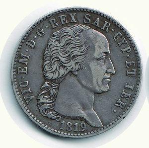 obverse: Vittorio Emanuele I - 5 Lire 1819