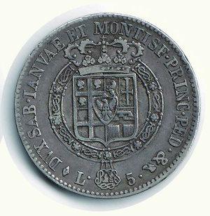 reverse: Vittorio Emanuele I - 5 Lire 1819