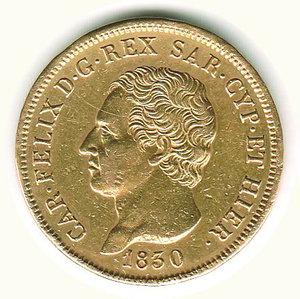 obverse: Carlo Felice - 80 Lire 1930 - GE