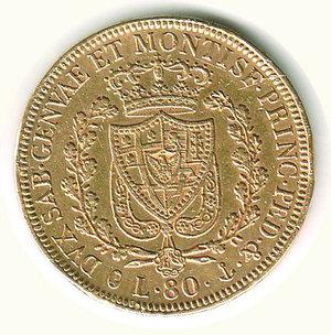 reverse: Carlo Felice - 80 Lire 1930 - GE