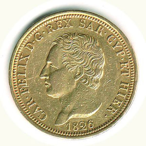 obverse: CARLO FELICE - 80 Lire 1826 - TO