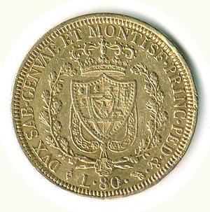 reverse: CARLO FELICE - 80 Lire 1826 - TO