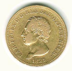 obverse: Carlo Felice - 40 Lire 1825 - GE