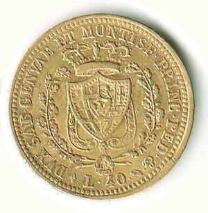 reverse: Carlo Felice - 40 Lire 1825 - GE