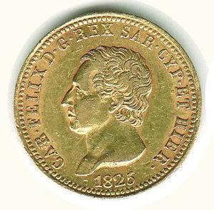 obverse: Carlo Felice - 40 Lire 1825 - TO
