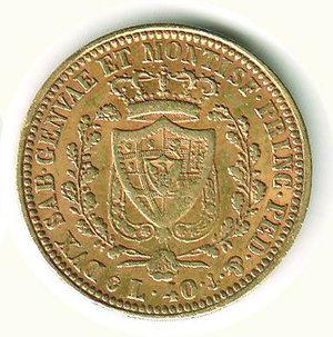 reverse: Carlo Felice - 40 Lire 1825 - TO