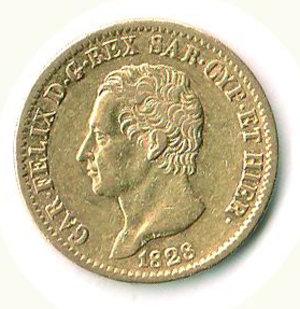 obverse: CARLO FELICE - 20 Lire 1828 - TO