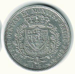 reverse: Carlo Felice - 5 Lire 1827 - TO