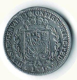 reverse: REGNO DI SARDEGNA Carlo Felice Lira 1830