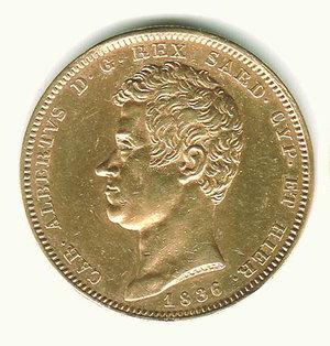 obverse: Carlo Alberto - 100 Lire 1836