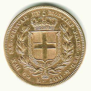 reverse: Carlo Alberto - 100 Lire 1836