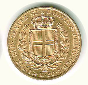 reverse: Carlo Alberto - 20 Lire 1847 - GE