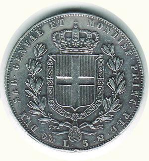 reverse: Carlo Alberto - 5 Lire 1844 - GE