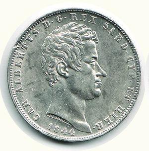 obverse: Carlo Alberto - 5 Lire 1844 - TO