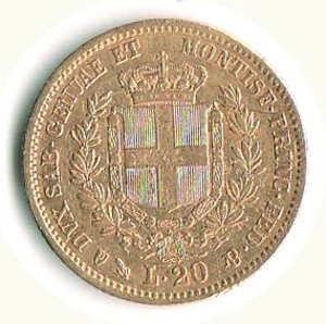 reverse: VITTORIO EMANUELE II - 20 Lire 1851 - GE