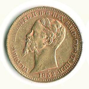 obverse: VITTORIO EMANUELE II 20 lire 1852