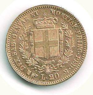 reverse: VITTORIO EMANUELE III - Regno di Sardegna - 20 Lire 1859 - TO