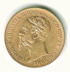 obverse: Vittorio Emanuele II - 20 Lire 1860 - GE