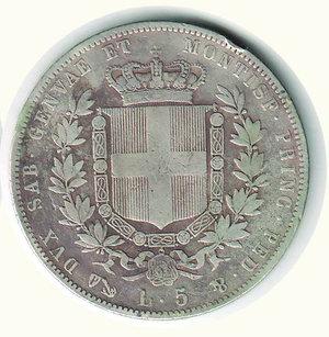 reverse: VITTORIO EMANUELE II - 5 Lire 1850 - GE