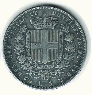 reverse: VITTORIO EMANUELE II - 5 Lire 1851 - GE