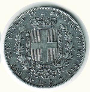 reverse: VITTORIO EMANUELE II - 5 Lire 1860 - TO