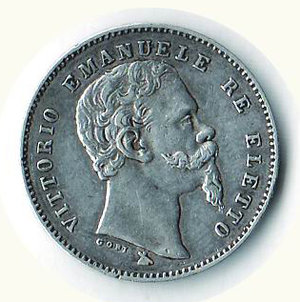 obverse: Vittorio Emanuele II - Re eletto - 1 Lira 1860