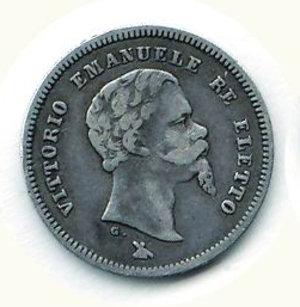 obverse: REGNO D ITALIA Vitt.Emanuele II 50 cent.1860