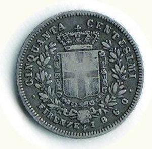 reverse: REGNO D ITALIA Vitt.Emanuele II 50 cent.1860