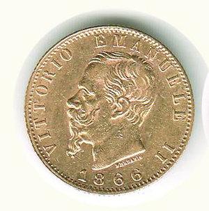 obverse: VITTORIO EMANUELE II - 20 Lire 1866