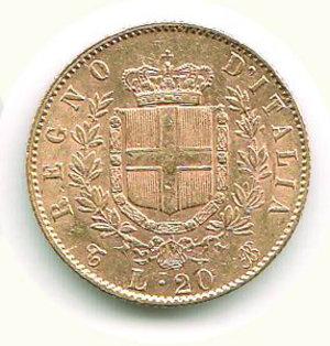 reverse: VITTORIO EMANUELE II - 20 Lire 1866