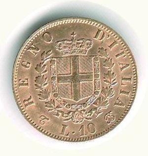 reverse: VITTORIO EMANUELE II - 10 Lire 1863 - TO