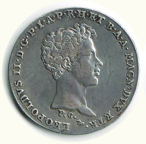 obverse: FIRENZE - Leopoldo II - 1/2 Francescone