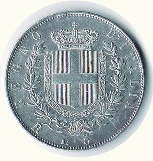 reverse: VITTORIO EMANUELE II - 5 Lire 1876