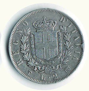 reverse: REGNO D ITALIA Vitt. Emanuele II 2 Lire 1863