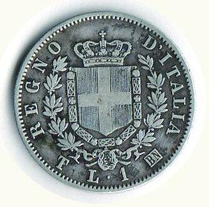 reverse: REGNO D ITALIA - Vittorio Emanuele II - Lira 1867