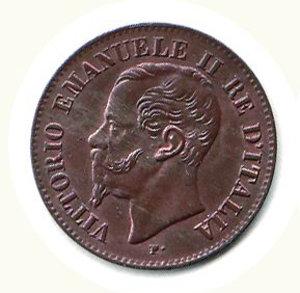 obverse: VITTORIO EMANUELE II 2 centesimi 1867