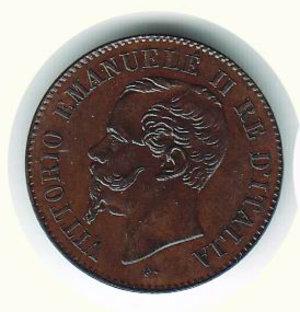 obverse: REGNO D ITALIA Vittorio Emanuele II 2 centesimi