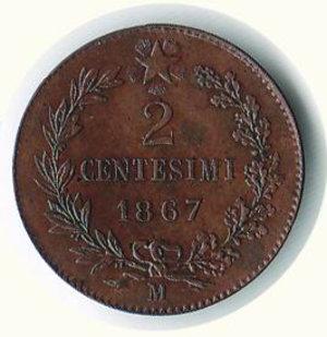 reverse: REGNO D ITALIA Vittorio Emanuele II 2 centesimi