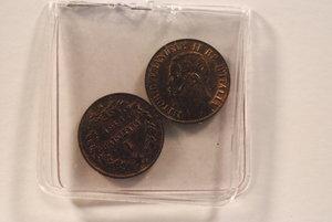 obverse: VITTORIO EMANUELE II (1861-1875) centesimo 1861 Milano - 2 monete - P.562.